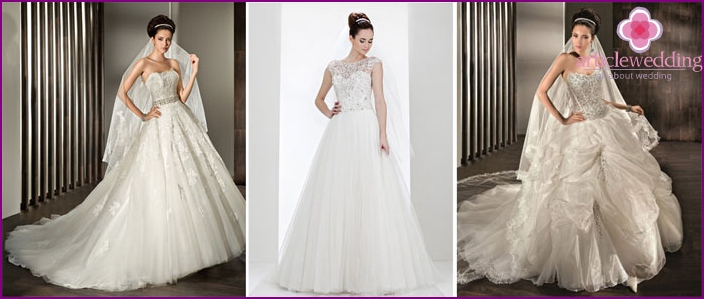 Encrusted with crystals corset bride