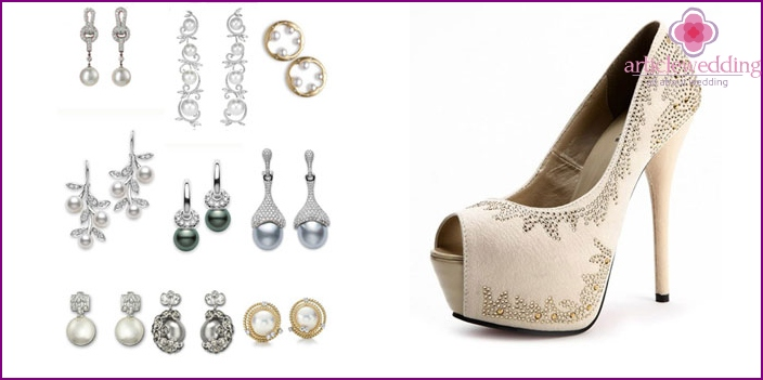 Shoes and accessories for the wedding