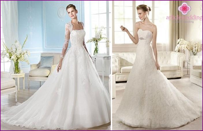 Classic wedding dresses a-line