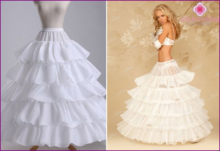 Petticoat with ruffles fabric