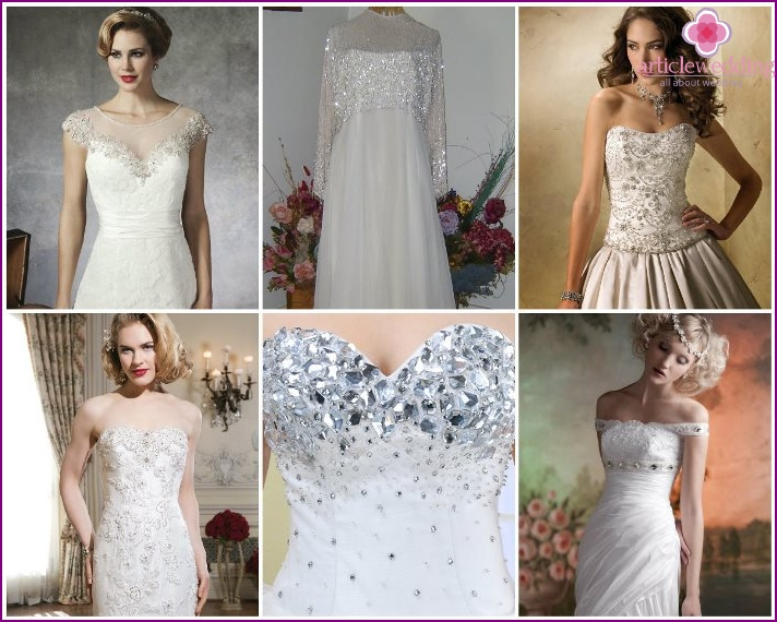 Finishing beads bride dress