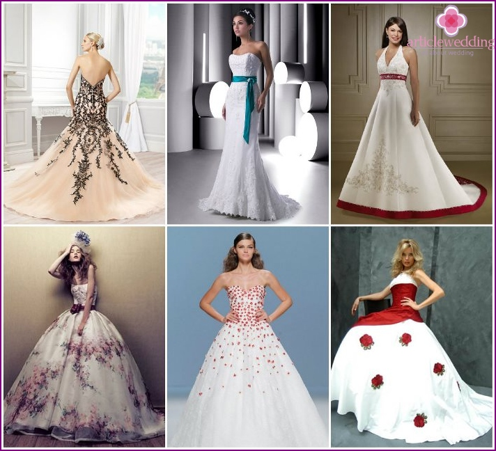 Colorful decor bride dresses