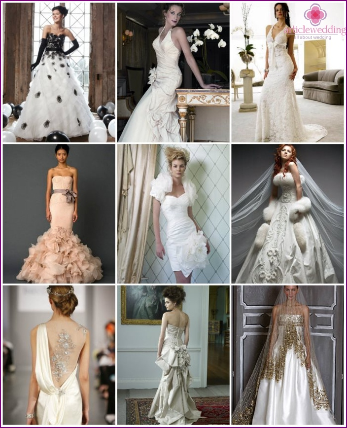 Finishes wedding dress