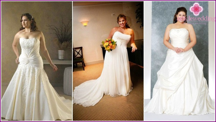 The fluffy skirt and corset: wedding combination