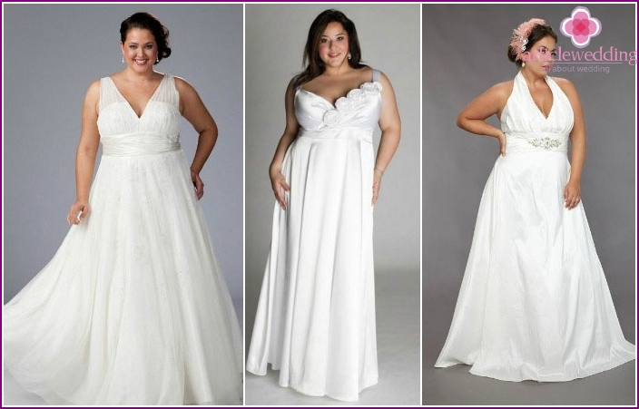 Styles in the Greek style full of brides