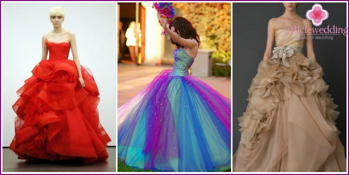 Dresses of different colors