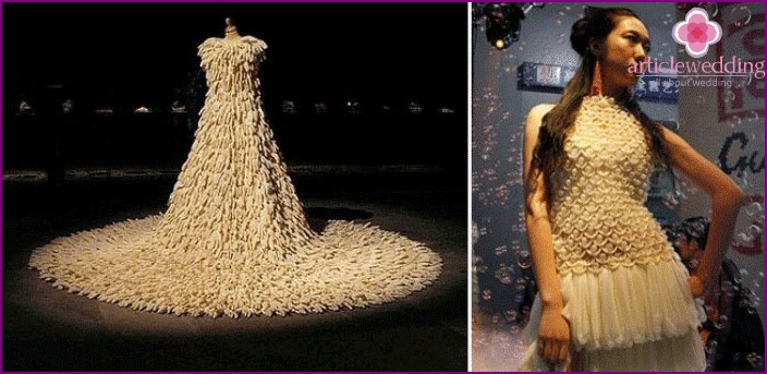 Condoms - material to create unusual dresses