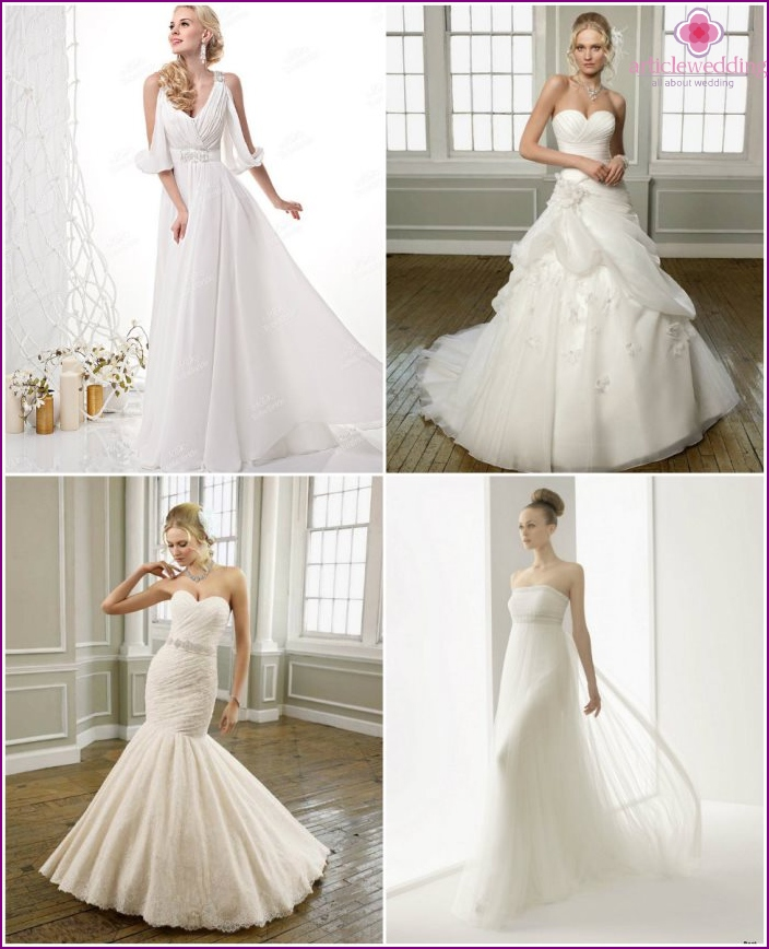 Wedding dresses by Versace