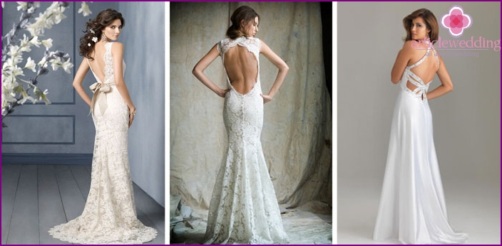 Dresses with open back