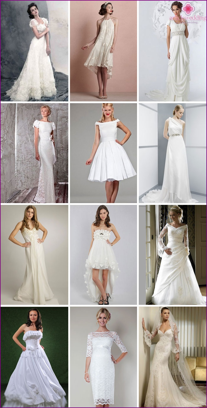 Wedding dresses for small breasts