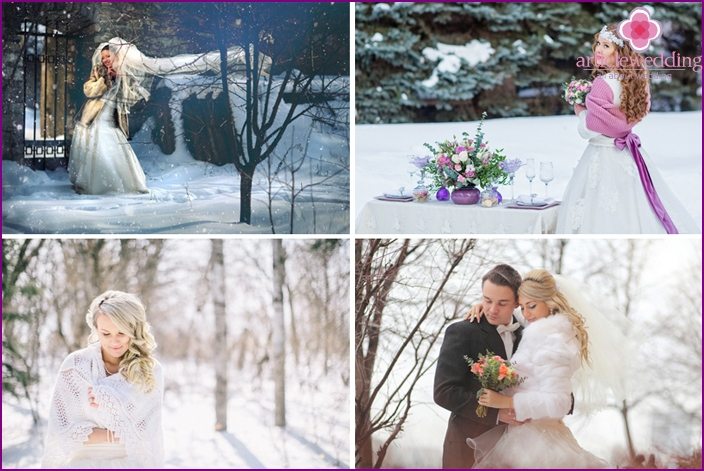 Images of the unique bride for the cold season