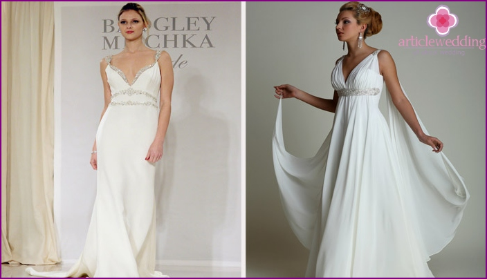 The outfits from designer Badgley Mischka