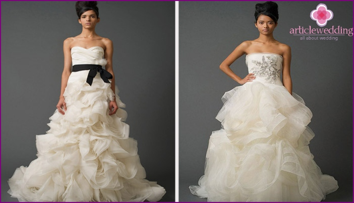 Designer clothes for the wedding of Vera Wang