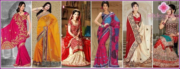 Indické svatební šaty - tradiční a moderní model s fotografií 2bd8b47330e