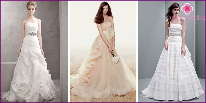 The collection of wedding dresses from Vera Wang