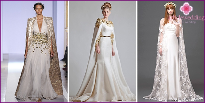 Wedding Dresses with Cape