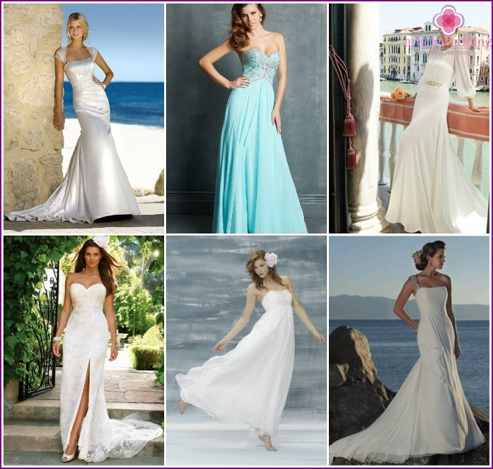 Long wedding dresses for the beach