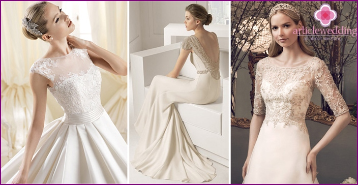 Delicate dresses for the bride