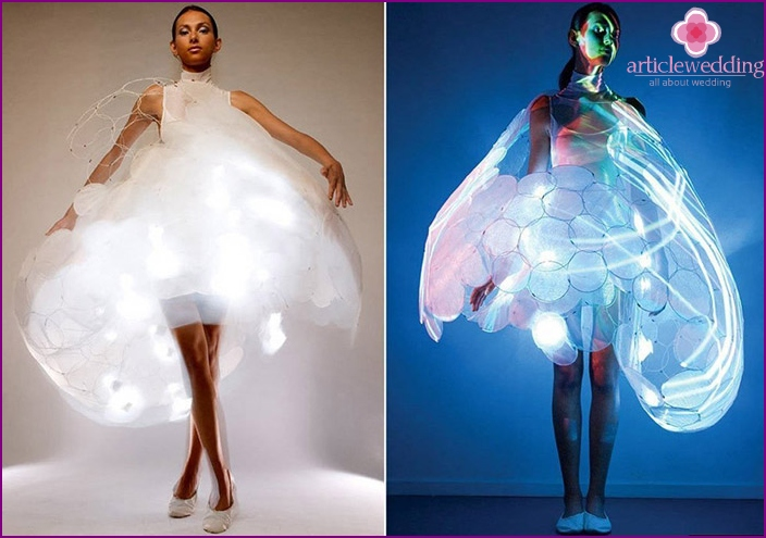 Shocking the model along with the LED for wedding