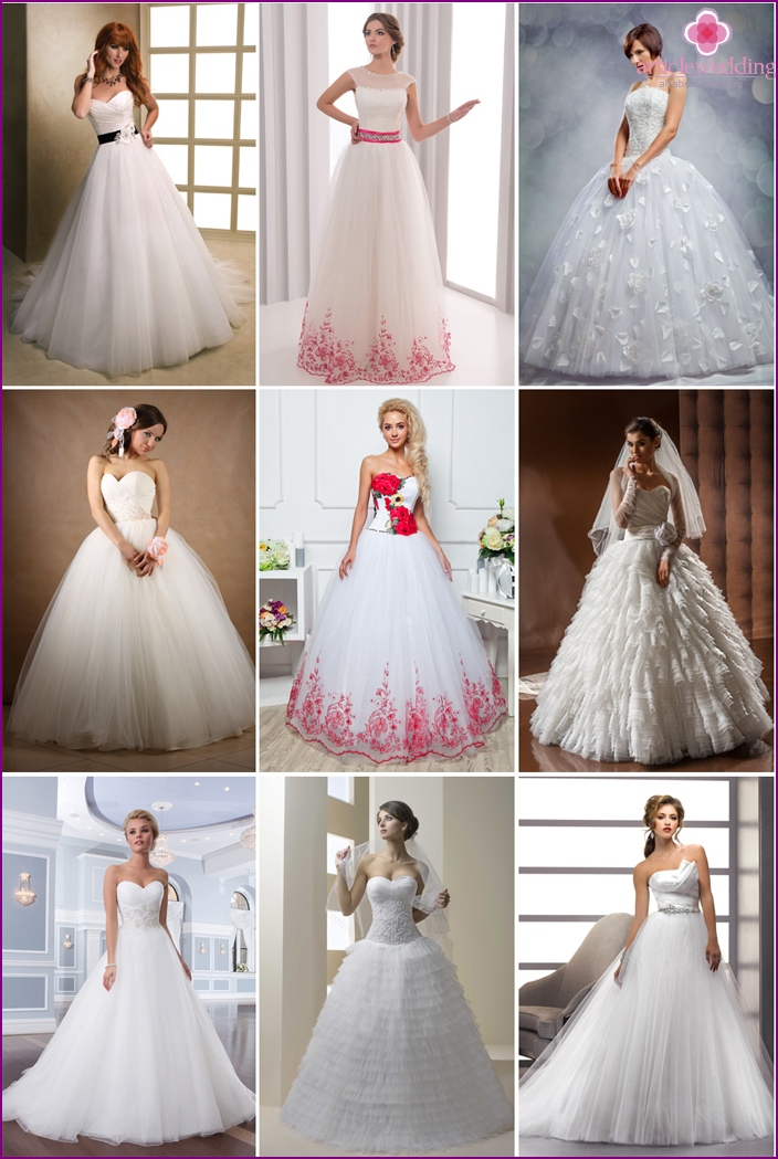 Beautiful dresses for bridal