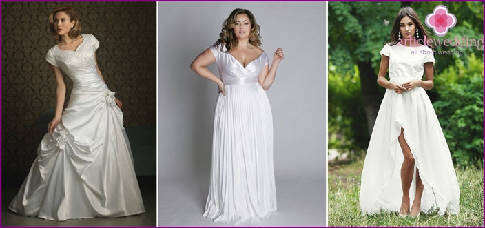 How to choose a wedding dress with short sleeves