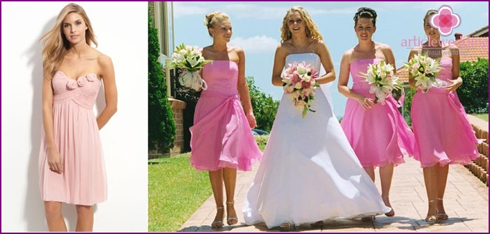 Medium-length dresses for wedding to girlfriend
