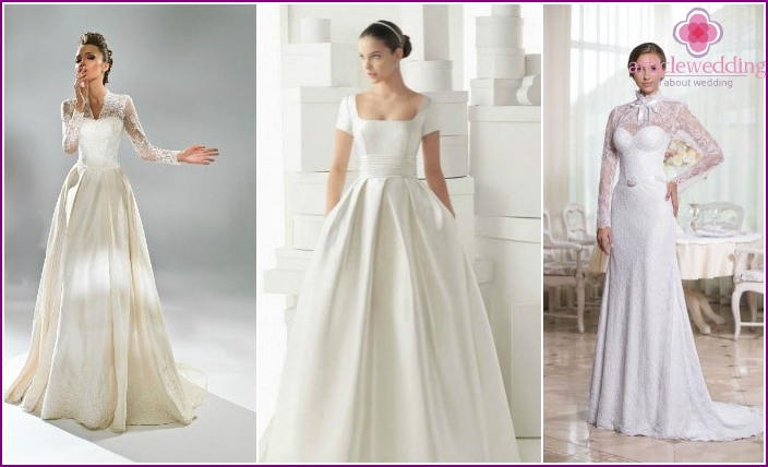Models for wedding dresses with sleeves