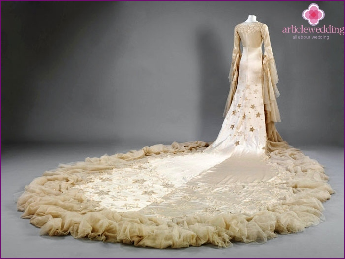 Vintage wedding dress of the Middle Ages