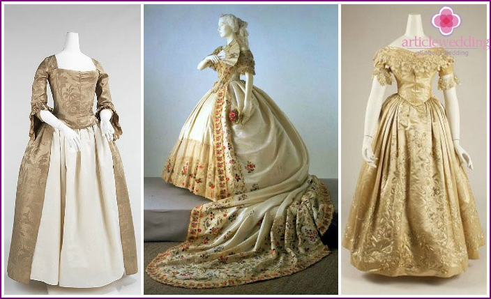 Wedding dress of the 18th century