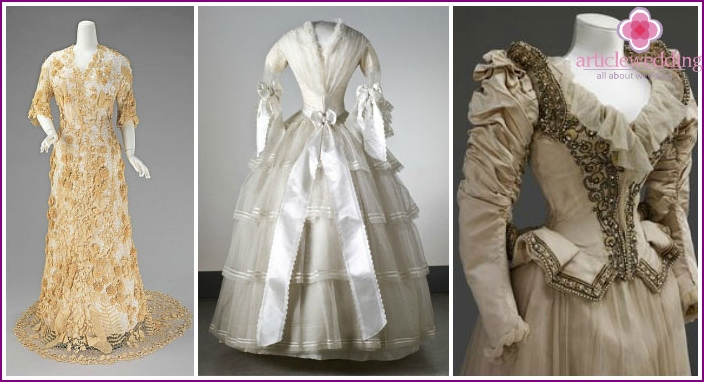 Wedding dress of the 19th century