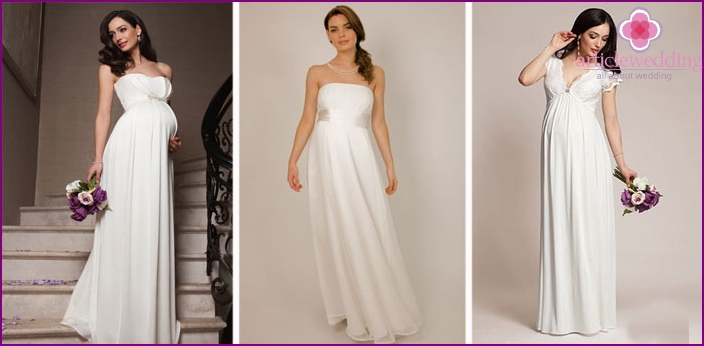Wedding dresses for women in position