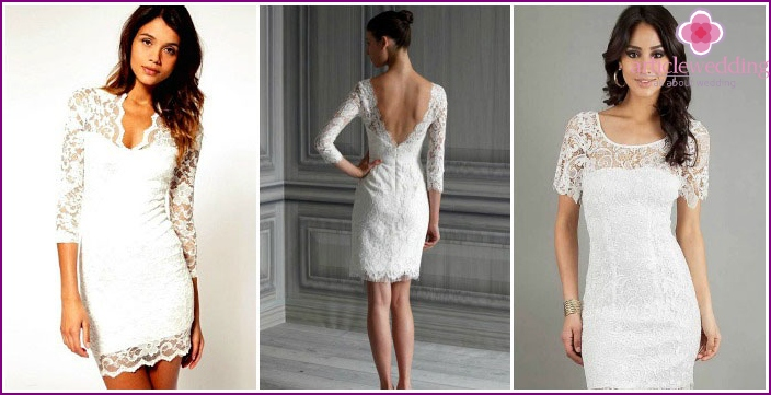 Lace dress with their own hands for a wedding