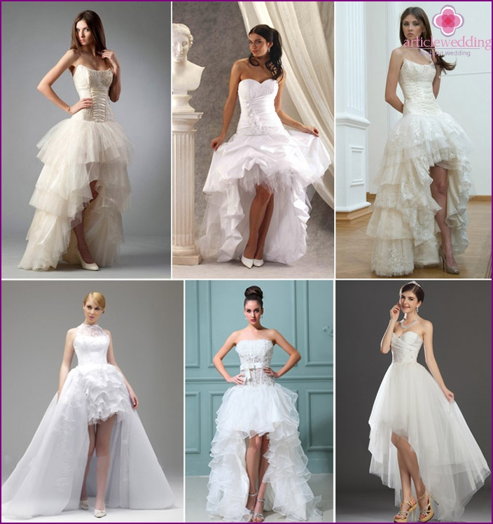 Wedding dress for the bride-transformer low growth