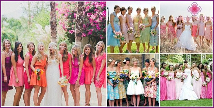 Elegant attire bridesmaids