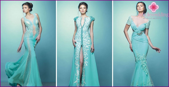 Applications - decor for turquoise bridesmaid dresses