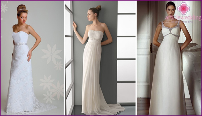 The direct style of wedding simple cut