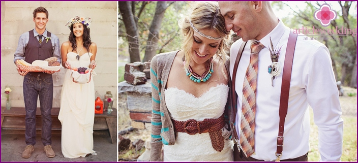 Wedding in hippie boho style