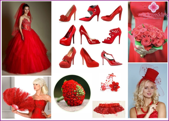 Red Wedding Accessories