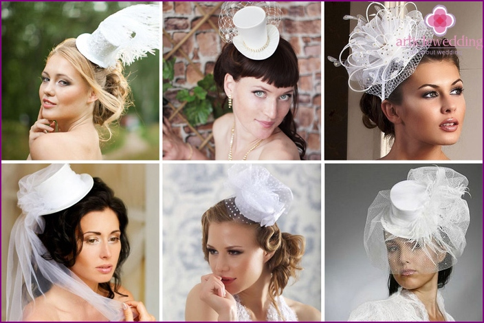 Wedding hats for brides