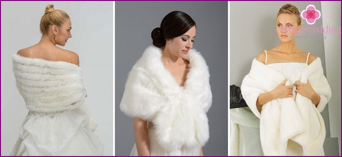 Wide model capes for wedding