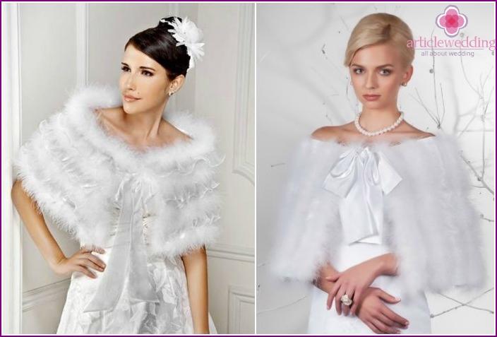 Wedding boa of swan's down