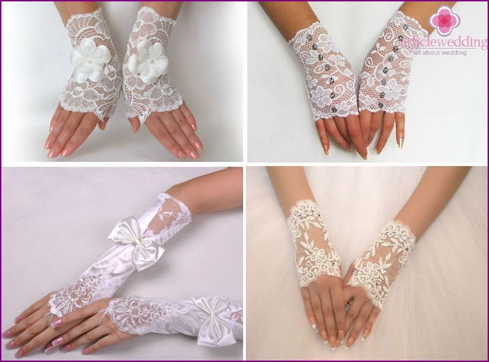 Wedding Fingerless Gloves