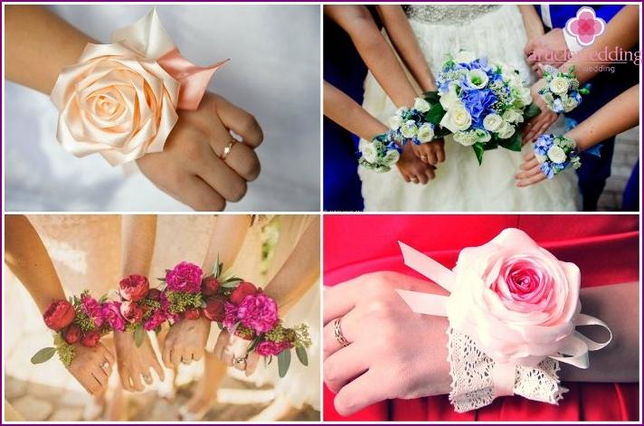 Что сделать на руку подружкам невесты своими руками 93