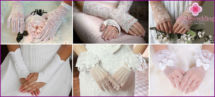 A fashion accessory for the bride hands
