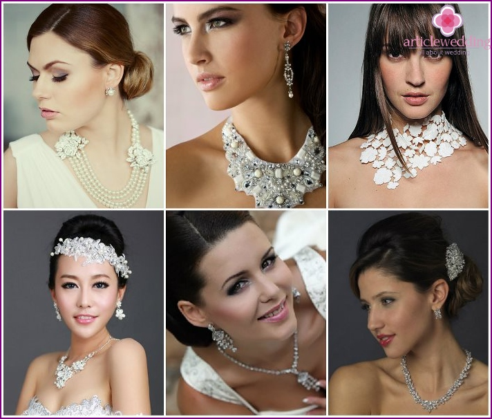 Proper selection of jewelry for the bride