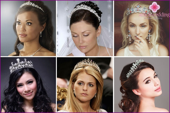 Tiara bridal jewelry as a bride