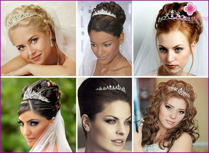 Tiaras as a comb for the bride
