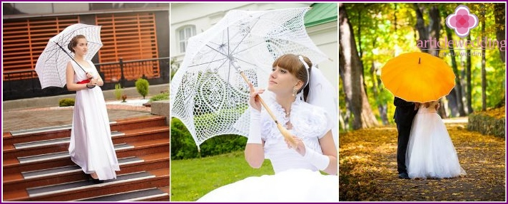 Choosing an umbrella for the bride