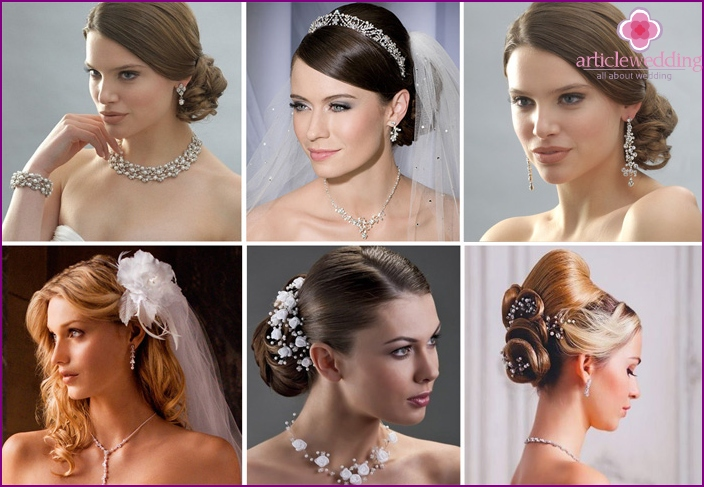 Variants of fashion jewelry for the bride
