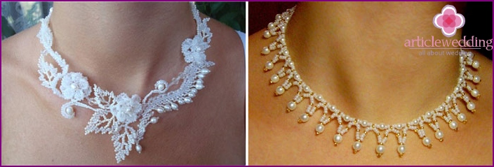 Delicate necklaces for brides
